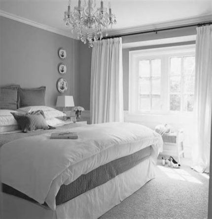 Awesome Grey And White Bedroom Ideas 40