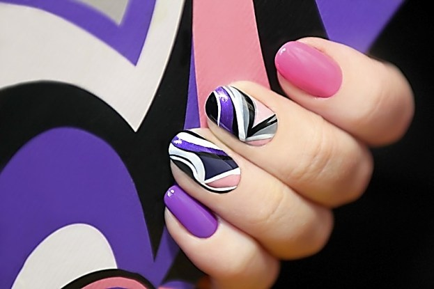 Nailed it! Pretty in Pink! Nail art