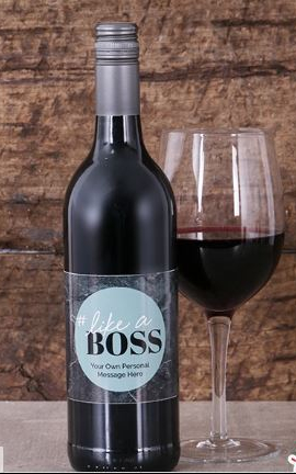 Personalised Like A Boss Wine