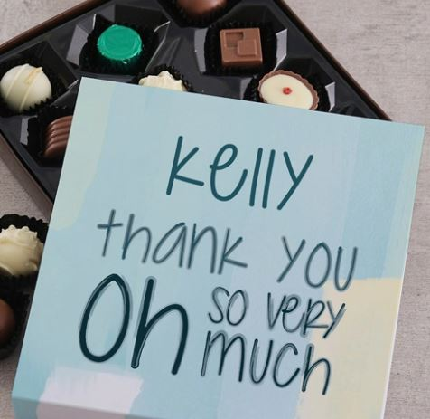 Personalised Thank You So Much Choc Tray