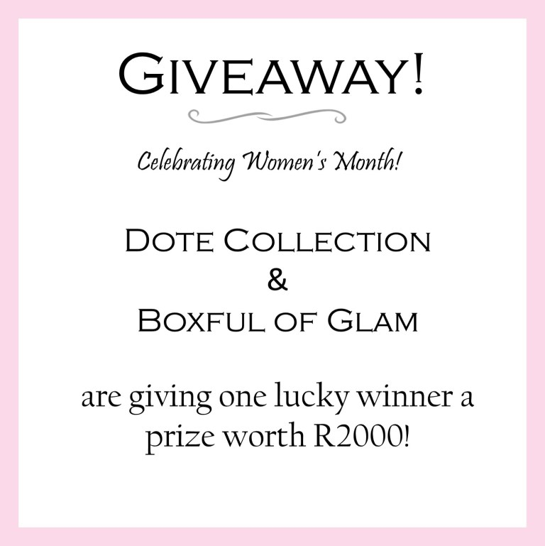 Giveaway - Celebrating Women's month!
