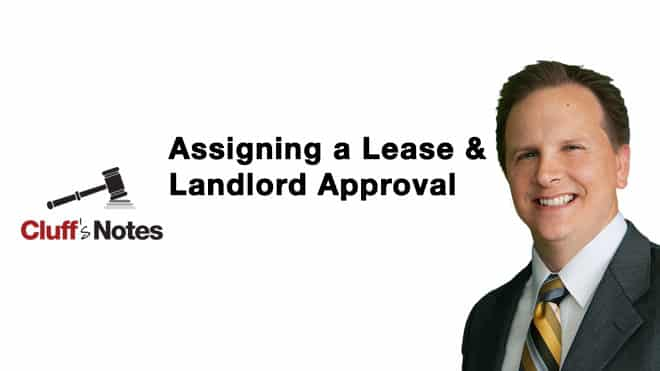 Assigning a Lease & Landlord Approval Cluff Law