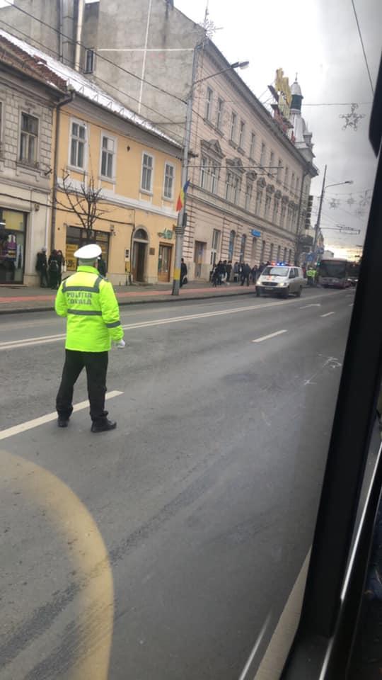 Accident Cluj: Femeie lovită de autobuz în Piața Unirii, în față la Melody 2