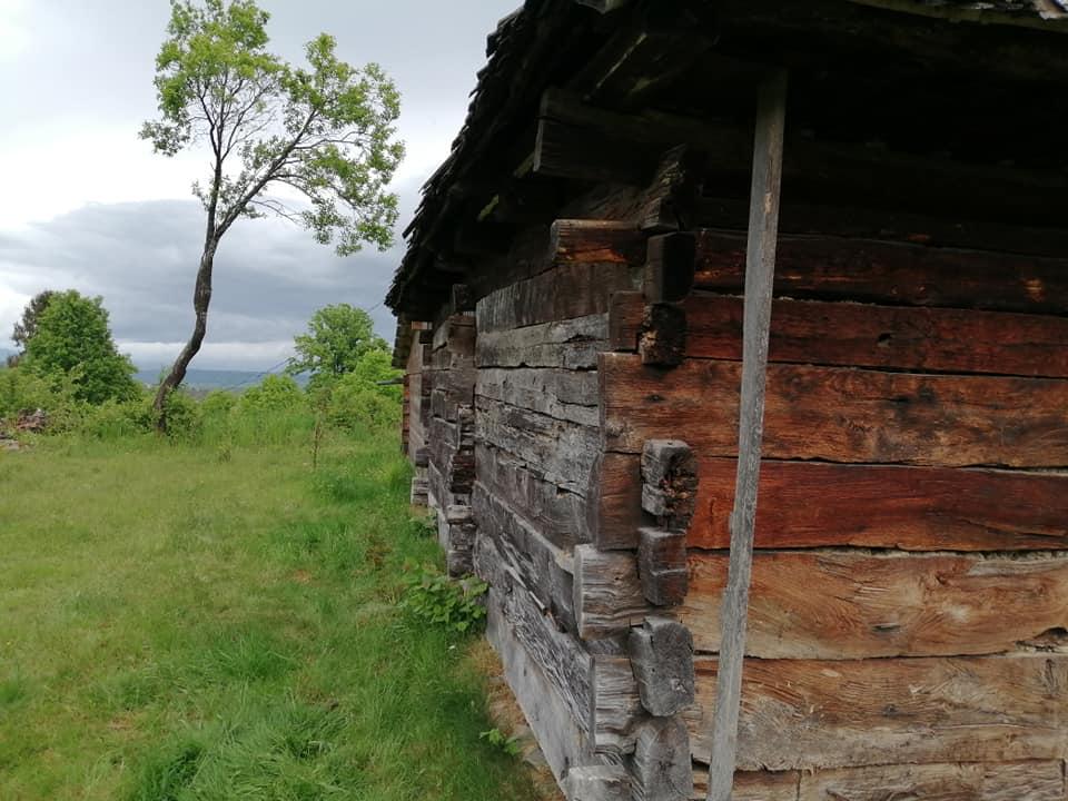 """Foto. Casă din Maramureș adusă în Cluj. """"Vârsta nestabilita dar grinzile de stejar sint superbe și sănătoase"""" 1"""
