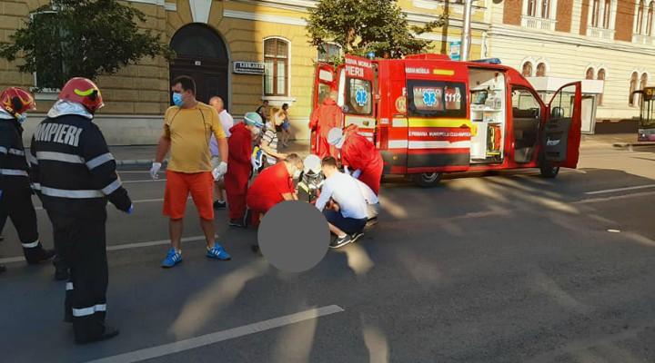 Cluj: Bărbat de 82 de ani lovit de mașină în centrul Clujului 1