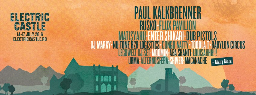 Paul Kalkbrenner si Rusko, confirmati la Electric Castle 2016