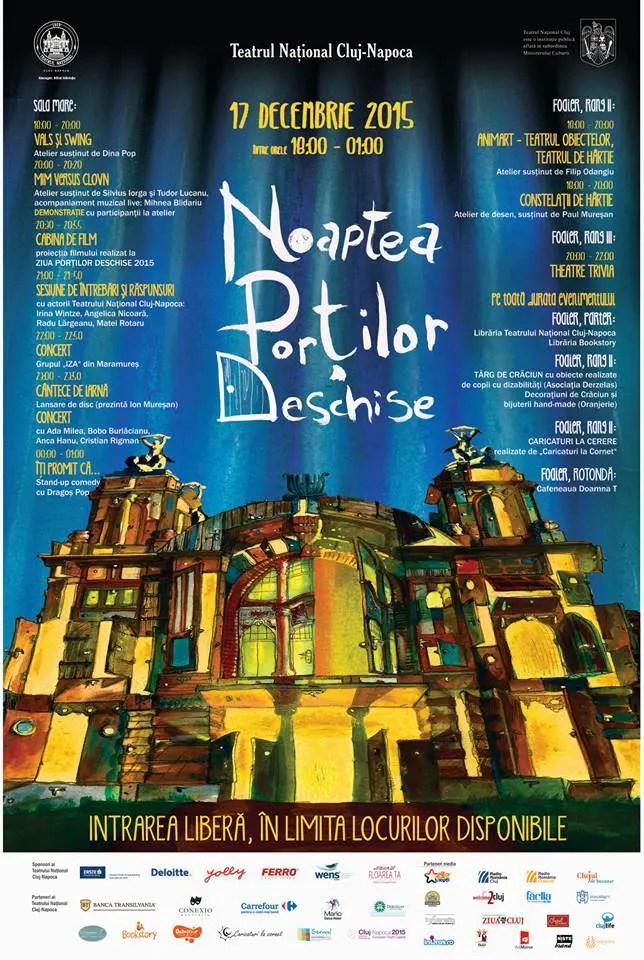 noaptea portilor deschise teatrul national cluj-napoca