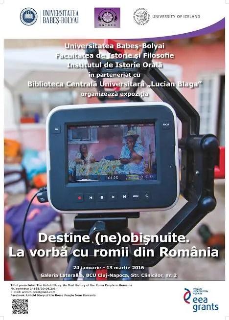 """""""Destine (ne)obişnuite. La vorbă cu romii din România"""""""