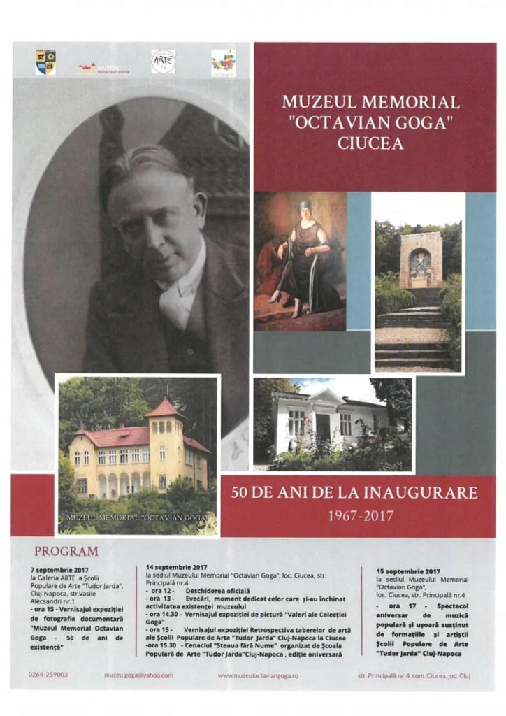 """50 de ani de la inaugurarea Muzeului Memorial """"Octavian Goga"""" din Ciucea"""