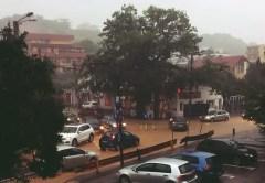 Furtuna inundă, din nou, străzile din Cluj-Napoca