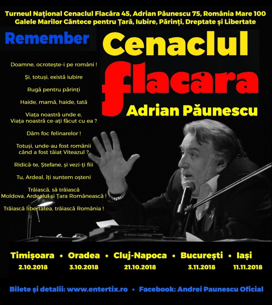 """Remember Cenaclul Flacăra"" la Cluj   Mari muzicieni români vor concerta la Cluj"