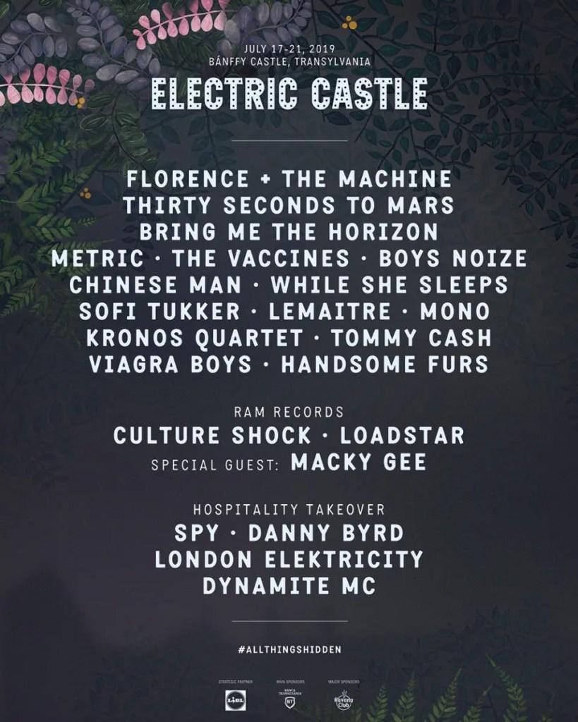 line up electric castle 2019