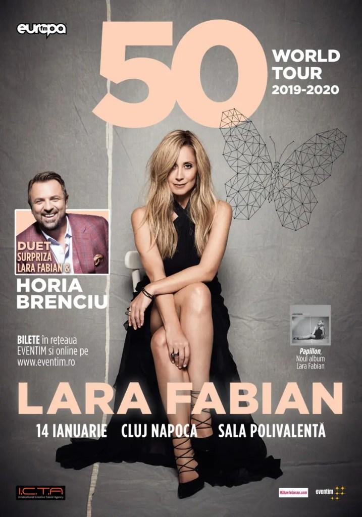 """Lara Fabian revine la Cluj în cadrul turneului """"50"""" World Tour"""