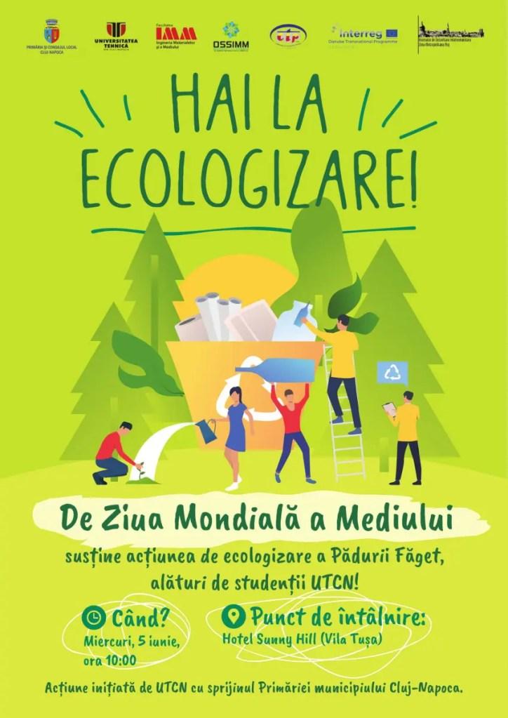 70 de studenţi ai Universităţii Tehnice din Cluj organizează o amplă acţiune de ecologizare în Făget