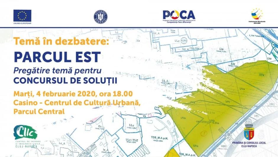 Dezbatere publică privind amenajarea Parcului Est din Cluj-Napoca