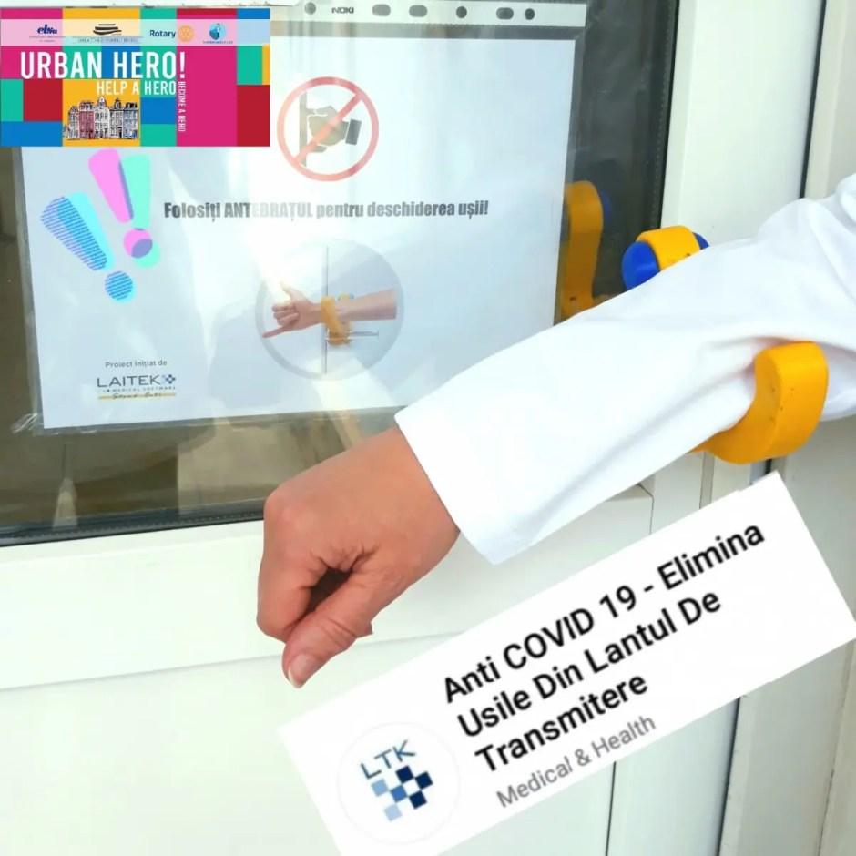 Clanțe anti COVID-19 la Cluj   Cum se deschid ușile spitalelor pentru a preveni infectarea