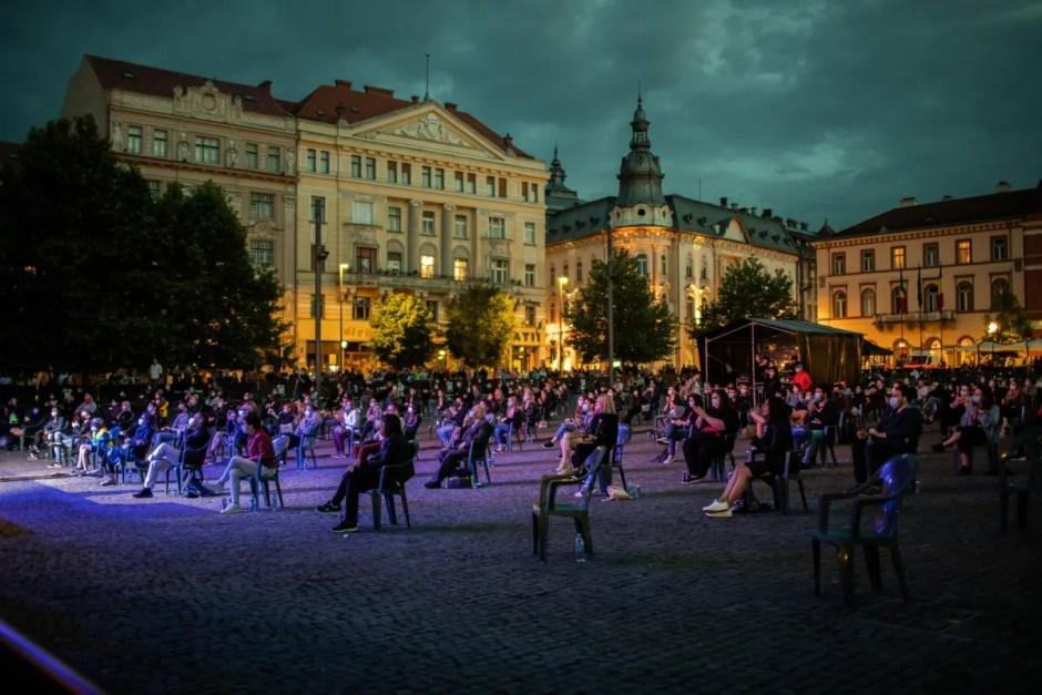 Iunie 2020 a adus la Cluj-Napoca primele concerte în sistem de distanţare socială