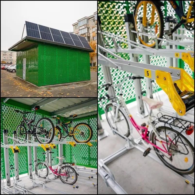 Premieră la Cluj-Napoca: containere securizate cu 100 locuri pentru biciclete