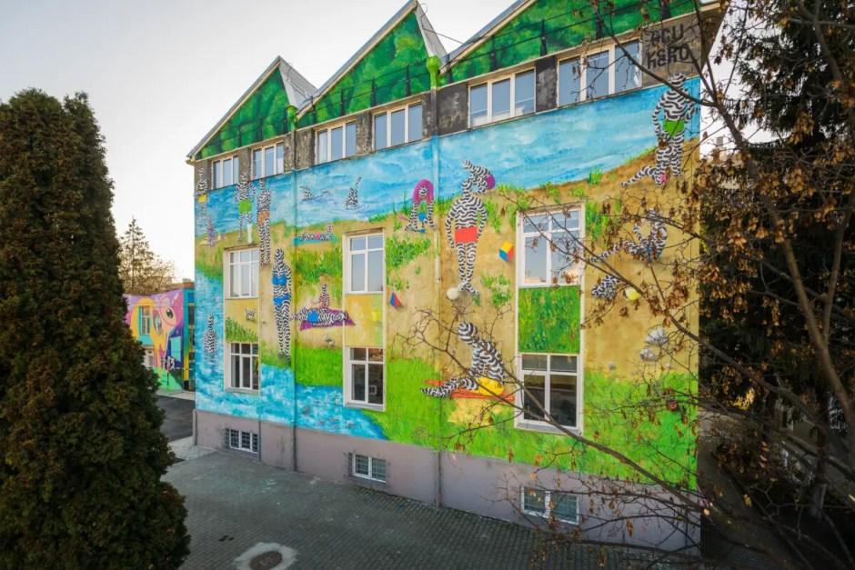 Prima pictură murală din Cluj care purifică aerul