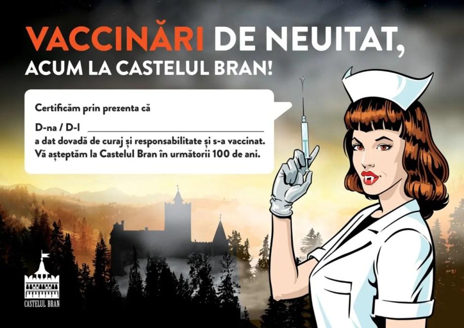Maraton de vaccinare COVID-19 la Castelul lui Vlad Ţepeş