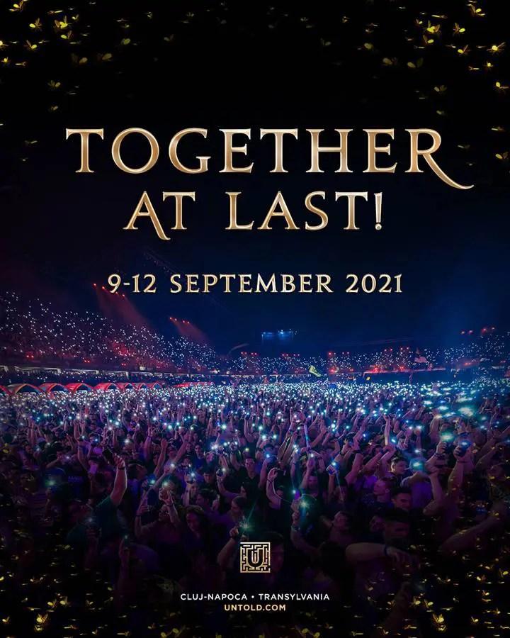 Festivalul UNTOLD va avea loc între 9 şi 12 septembrie 2021