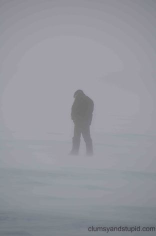 When you gotta go, you gotta go, even if the wind is blowing and the ambient temp is -40