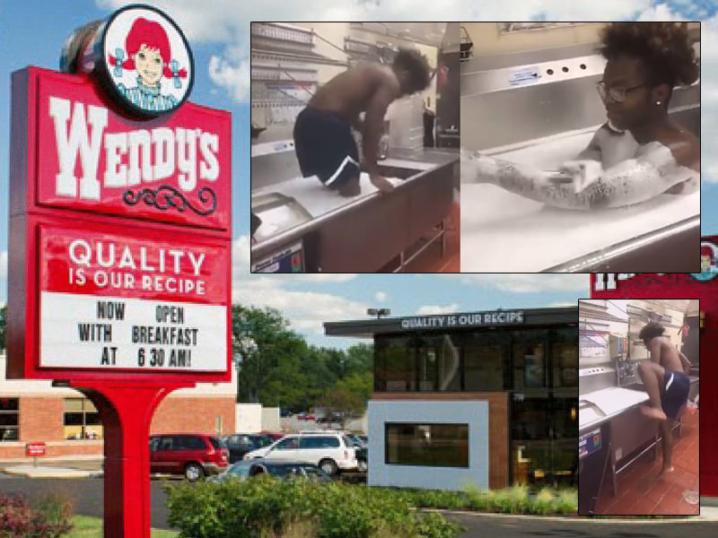 https clumsycrooks com caught on camera florida man takes bubble bath in wendys kitchen sink