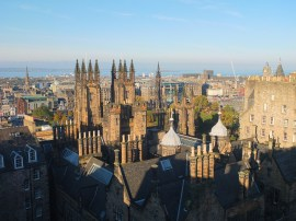 Over Edinburgh, Scotland.