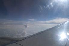 somewhere over eastern Europe... I think
