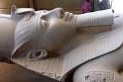 The statue of Rameses II