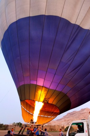 Hot Air Balloon ride over Luxor, Egypt