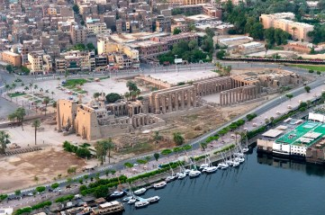 Luxor Temple from above