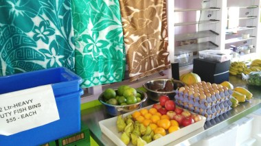 Fruit stall in a shop