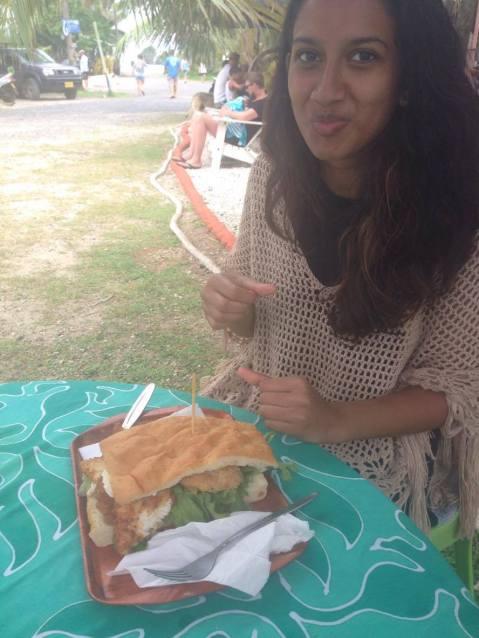 Best fish burger ever, a world wonder