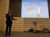 Präsentation der Preisträger des Prix Cluny 2014 durch Dr. Michael Just, Vorstandsmitglied der Cluny-Gesellschaft