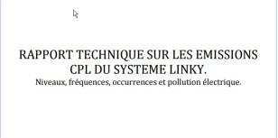 rapport technique émission CPL Linky