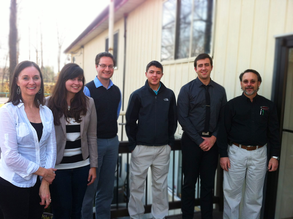 The Architecture Department at Pickering Associates with their shadow student from MHS.