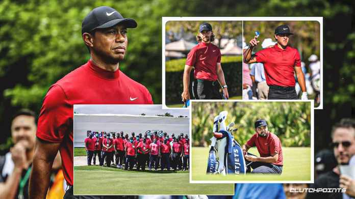 Tiger Woods honored by host of PGA Tour golfers with Sunday Red tribute