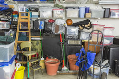Storage filled disorganized garage in Tenesee