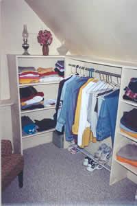 Closet after de-cluttering process