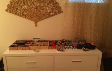 Dresser, decluttered