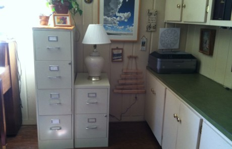 File cabinets, decluttered