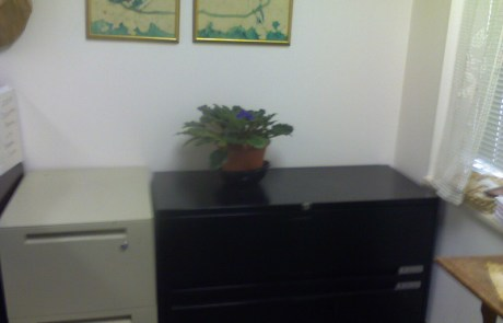 Office, decluttered