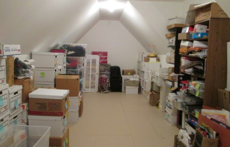 Attic, professionally decluttered and organized!