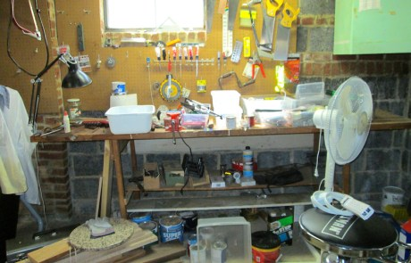 Workroom 3, to be professionally decluttered and organized!
