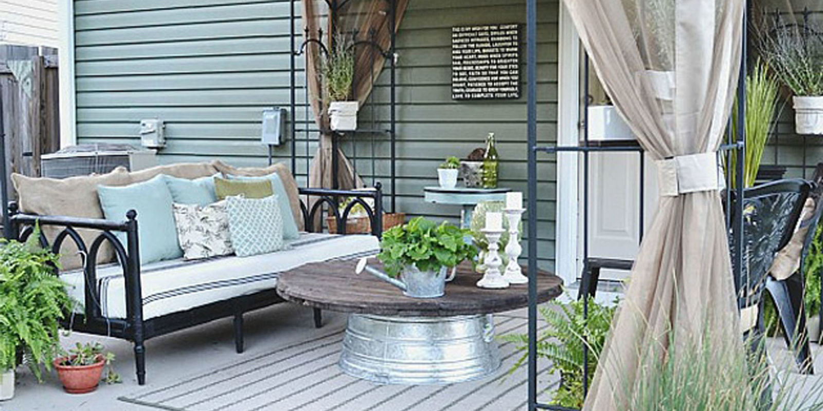 Liz Marie Blog Patio Before and After - Patio Decorating Ideas on Backyard Patio Makeover id=53836
