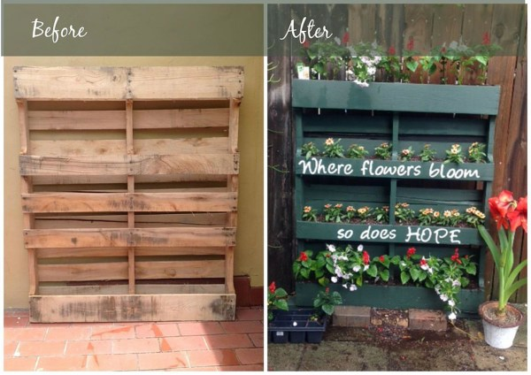 pallet vertical garden project How to Turn a Shipping Pallet Into a Vertical Garden - DIY