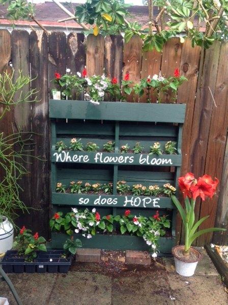 pallet vertical garden project Wood Pallet Crafts - Easy Craft Ideas