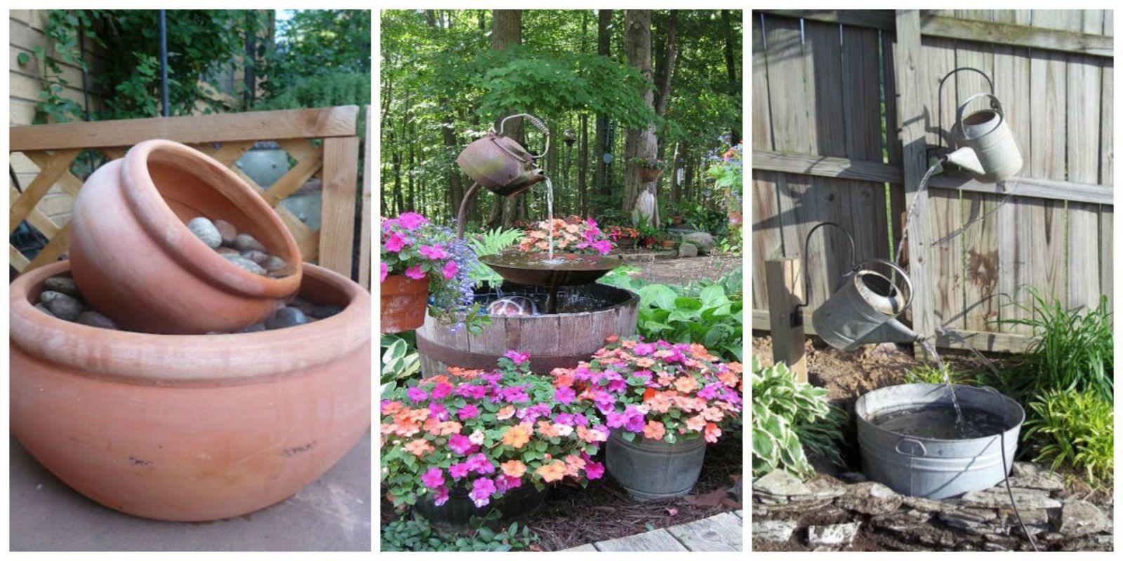 15 DIY Outdoor Fountain Ideas - How To Make a Garden ... on Home Garden Fountain Design id=88300