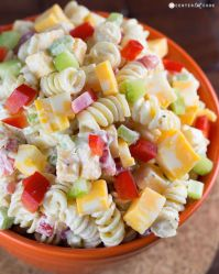 The potent taste of Cheddar, coupled with celery and pepper, creates a sharp, vibrant pasta salad the whole family will love. Get the recipe at Center Cut Cook.